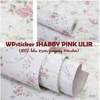 Jual Wallpaper Sticker Motif Shabby Pink Ulir Murah