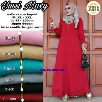 Jual Murah Yusie Maxi Dress Gamis Muslim Cutting Laser Jumbo Size LD 120cm Murah