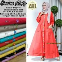 Jual Murah Denies Maxi Dress Gamis Muslim Katun Premium Import Kombi Bordir Murah