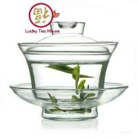 Glass gaiwan chinese teapot kung fu tea cup teko kaca gai wan