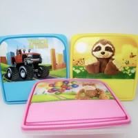 Jual Kotak makan anak persegi sekat Souvenir Murah