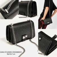 Jual Zara Studded Crossbody / Sling Bag / Tas Selempang Wanita / Tas Murah Murah