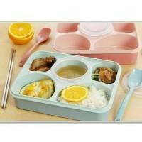 Jual YOOYEE Lunch Box Kotak Tempat Makan Sup Bento Sekat 5 BPA free Murah