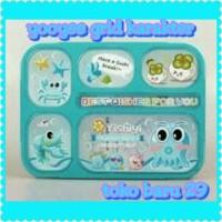Jual yooyee grid lunch box 5 sekat karakter Murah