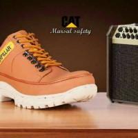 sepatu pria termurah Boots safety cat free kaos kaki