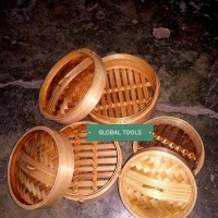 Jual Klakat bambu wadah Dim sum kecil 13 5cm handmade Murah