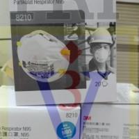 Masker debu asap 8210 3M,mask particulate respirator N95,