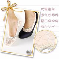 Jual kaos kaki renda essential fashion lace invisible thin socks fse014 Murah