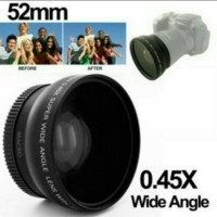 Wide Angle Lens Macro 0.45X 52mm untuk Nikon