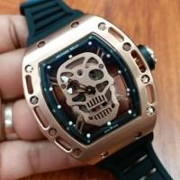 Jual jam tangan pria super mewah bestseller richard mille skull metic Murah