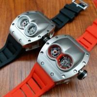 Jual jam tangan pria richard mille silver batre doubleturbilon garansi 6bln Murah