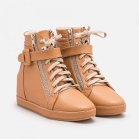 Jual Khidima Light Brown Sneaker Wedges Murah