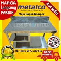 Meja Dapur / Kompor Stainless Steel 1 Rak Serbaguna Metalco