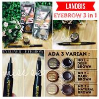 Jual LANDBIS EYEBROW GEL 3 in1 with eyeliner + BRUSH Murah