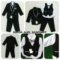 0 1 2 3 4 5 TAHUN setelan tuxedo anak jas anak lengkap garis-garis