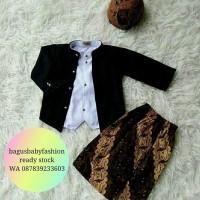 Jual Baju Adat Ewes Setelan Baju Bayi Kostum Jawa plus Blangkon dan Jarik Murah