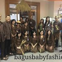 Couple / Sarimbit / Pasangan Surjan Kebaya Lurik Bapak Ibu Kostum Jawa