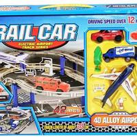 Jual maiinan anakk berkualitas RAIL CAR (4D ALLOY AIRPORT) Murah