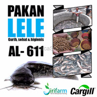 terbaru jirifarm 09398 Pakan Lele Cargill AL 611 3kg uk 2mm u lele 4