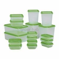 diskon Ikea Pruta Toples Container Set isi 17Pcs Kotak Makan Box HIJA