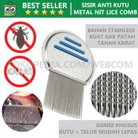 Metal Nit Lice Comp - Sisir Pembersih Kutu Rambut & Ketombe
