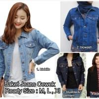 Jual jaket jeans cewe cewek wanita ladies model levis tebal kekinian denim Murah