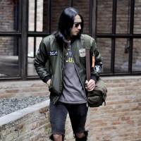 Jual Jaket bomber pria kent full patch hijau green army original Murah