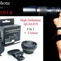 Jual  Lensa High Definition 0,45 Super Wide Angle+ Macro Tech - Hitam   Murah