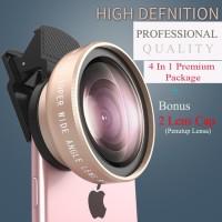 Jual  Lensa High Definition 0,45 Super Wide Angle+ Macro Tech S - Emas   Murah