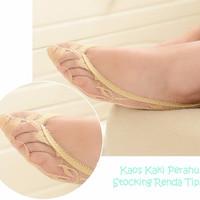 Jual KW022 Kaos Kaki Perahu Stocking Renda Tipis Lace Invisible Boat Socks Murah
