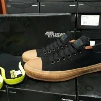 Sepatu Converse All Star Chuck Taylor 2 / CT II Black Rubber Gum Brown