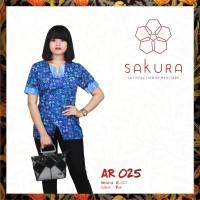 Blouse batik wanita karir - by Batik Sakura