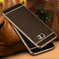Samsung Galaxy Note 5 Luxury Litchi Leather Case Softcase Cover