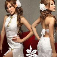 Jual Promo ! Lingerie - Babydolls Cheongsam Putih Elegan - SLB - 366 Murah