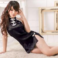 Jual DISKON Lingerie - Babydolls Cheongsam Hitam Elegan - SLB - 366 Murah