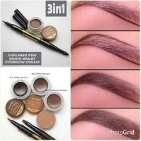 Jual Landbis - Lanbis Eyebrow Gel & Eyeliner + Brush 3 in1 Murah