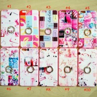 iPhone 6 Plus Soft Pink Lips  Kiss Pattern With iRing Luxury Case