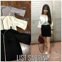 Jual List Sabrina Bahan twiscone fit to L Murah