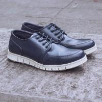 Jual Sepatu Casual Pria Navara Parker Blue Sepatu Sneakers nike adidas Murah
