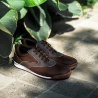 Sepatu Sneakers Pria Navara Paxton Brown Sepatu Pria Sneakers