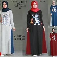 Jual Terlaris 62204 tom and jerry maxi/maxi dress/dress muslim murah/baju m Murah