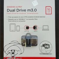 Jual Sandisk Ultra Dual OTG Flashdisk / Flash Disk USB 3.0 Bergaransi 16 GB Murah