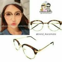 Jual PROMO-Kacamata  round glasses kc 113 leopard cokelat Murah