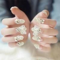Jual Kuku Palsu 4d - Nail Art Pita Fake Nails Wedding For Bride Murah