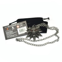 The Witcher 3 Wild Hunt Medallion Wolf Head Necklace Ka Diskon