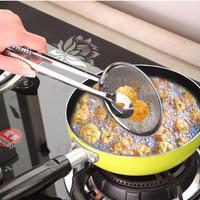 Jual Hot Jepitan Gorengan Dengan Tirisan Minyak 2 in 1 stainless steel Murah