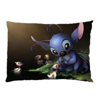 Sarung Bantal custom OHANA DISNEY LILO AND STICH #3 45x65 cm gambar