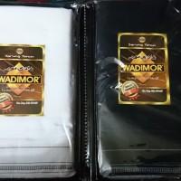 Jual Kualitas Premium Sarung Tenun Wadimor polos warna  hitam  putih Murah