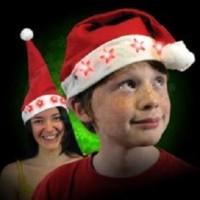 Jual topi santa nyala led natal chritmas light star   (PC) Murah