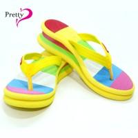 Jual PRETTY PELANGI Sandal Wanita - Sandal Wedges Cantik Murah